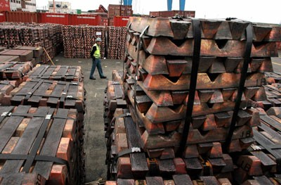 El cobre retrocedió 4.67% en su producción en mayo y el zinc lo hizo en 6.92%, informó MEM