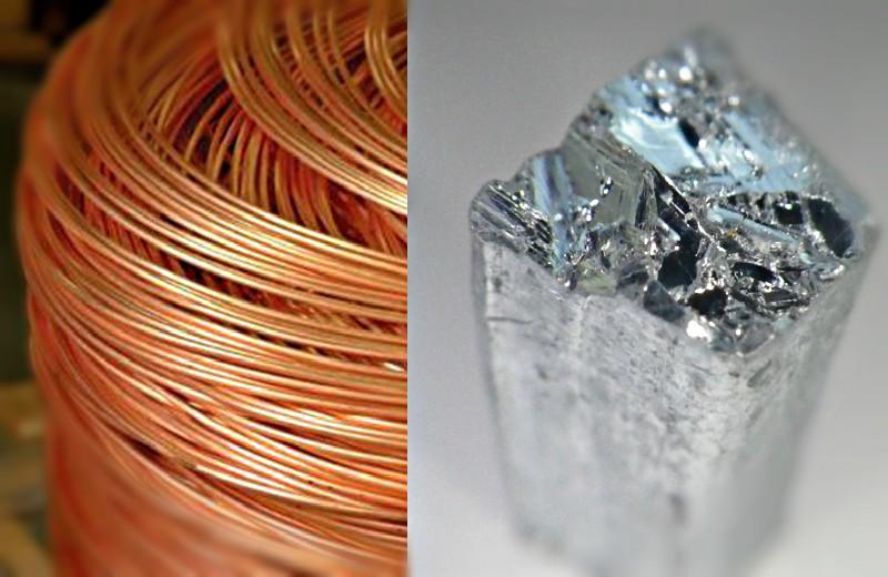 zinc y cobre